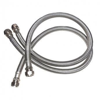 Smiths 15mm Plinth Heater Flexible Hoses Pair