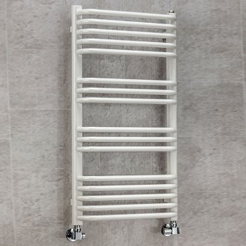 S4H Apsley Heated Towel Rail 1300mm H x 500mm W White