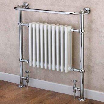 S4H Boleyn Radiator Heated Towel Rail 965mm H x 765mm W White/Chrome