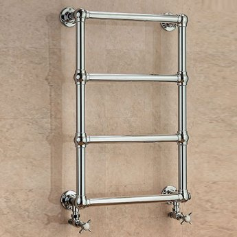 S4H Cleves Wall Mounted Heated Towel Rail 750mm H x 500mm W Chrome