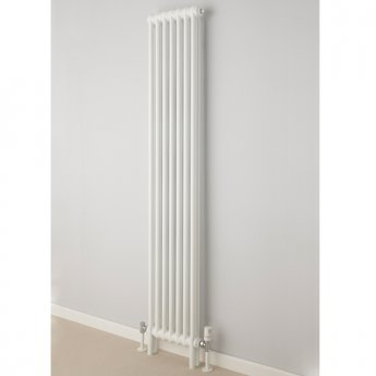 S4H Cornel Vertical 2 Column Radiator 1800mm H x 519mm W - White