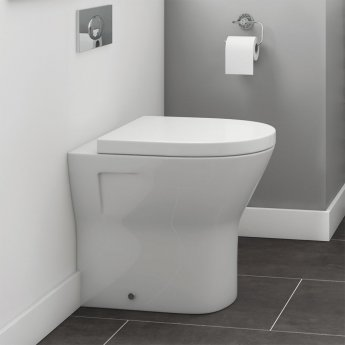 Synergy Marbella Comfort Height Back To Wall Toilet 360mm Wide - Soft Close Seat