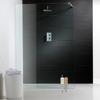 Synergy Vodas 8 Walk-In Modular Shower Panel 400mm Wide - 8mm Glass