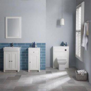 Tavistock Lansdown Bathroom Mirror, 800mm High x 570mm Wide, Linen White