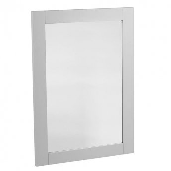 Tavistock Lansdown Bathroom Mirror, 800mm High x 570mm Wide, Pebble Grey