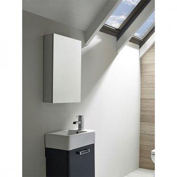 Tavistock Balance Bathroom Cabinet 650mm H x 440mm W Aluminium