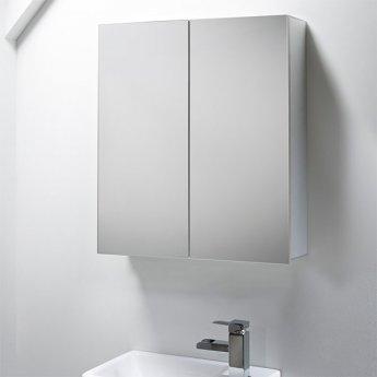 Tavistock Balance Bathroom Cabinet 650mm H x 600mm W Aluminium