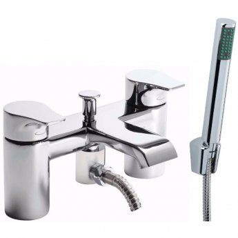 Tavistock Blaze Bath Shower Mixer Tap Deck Mounted Chrome