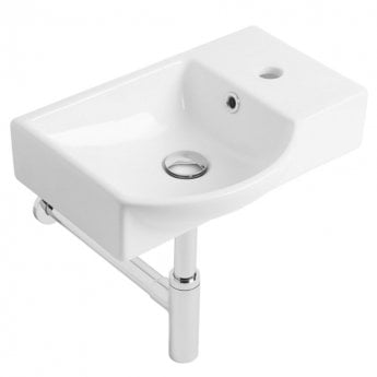 Tavistock Blend Wall Hung Basin 450mm Wide - Right Hand 1 Tap Hole