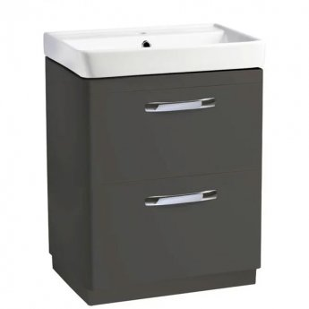 Tavistock Compass Floor Standing Bathroom Vanity Unit with Basin 600mm Wide - Gloss Clay