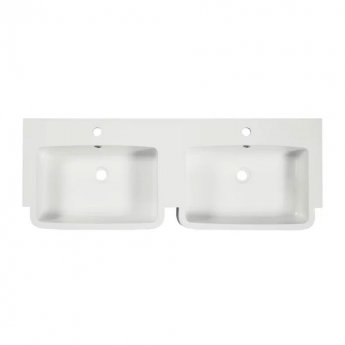 Tavistock Courier Double Basin 1200mm Wide for Vanity Unit - 2 Tap Hole