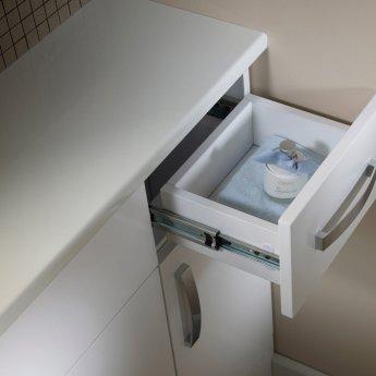 Tavistock Courier Floor Standing Bathroom Storage Unit 300mm Wide White