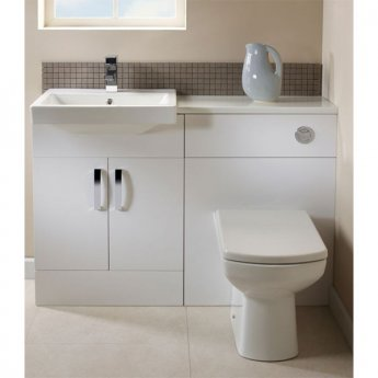 Tavistock Courier Semi-Countertop Bathroom Vanity Unit 600mm W White
