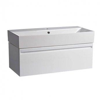 Tavistock Forum Wall Mounted Bathroom Vanity Unit with Basin 900mm Wide - Gloss White