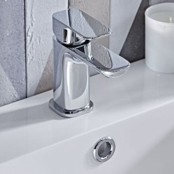 Tavistock Haze Mini Mono Basin Mixer Tap Single Handle with Click Waste - Chrome