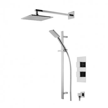 Tavistock Index Dual Concealed Shower Mixer with Shower Kit and Fixed Head - Chrome