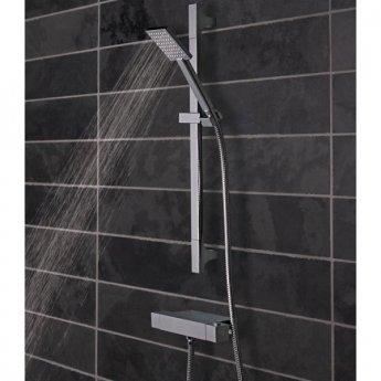 Tavistock Index Shelf Bar Shower Mixer with Riser Kit - Chrome