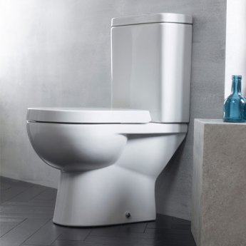 Tavistock Ion Close Coupled Toilet with Push Button Cistern - Soft Close Seat