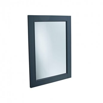 Tavistock Lansdown Wooden Framed Bathroom Mirror 570mm W x 800mm H - Matt Dark Grey