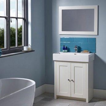 Tavistock Lansdown Freestanding Bathroom Vanity Unit with Basin 600mm Wide - Linen White