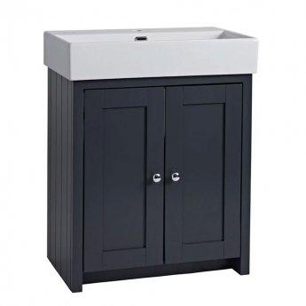 Tavistock Lansdown Freestanding Bathroom Vanity Unit with Basin 700mm Wide - Matt Dark Grey
