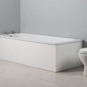 Tavistock Meridian MDF End Bath Panel 520mm H x 700mm W - White