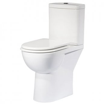 Tavistock Micra Comfort Height Open Back Toilet with Push Button Cistern - Soft Close Seat