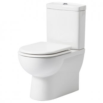 Tavistock Micra Flush-to-Wall Close Coupled Toilet, Soft Close Toilet Seat