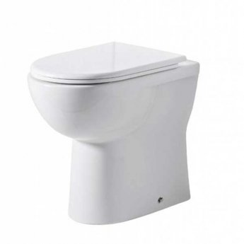 Tavistock Micra Comfort Height Back to Wall Toilet - Soft Close Seat
