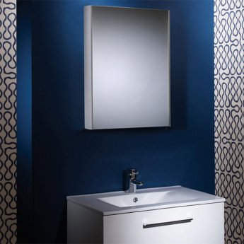 Tavistock Move Bathroom Cabinet 700mm H x 480mm W Aluminium