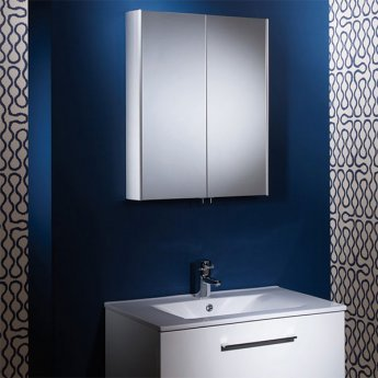 Tavistock Move Bathroom Cabinet 700mm H x 580mm W Aluminium
