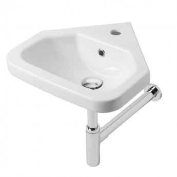 Tavistock Niche Wall Hung Corner Wash Basin 404mm Wide - 1 Tap Hole