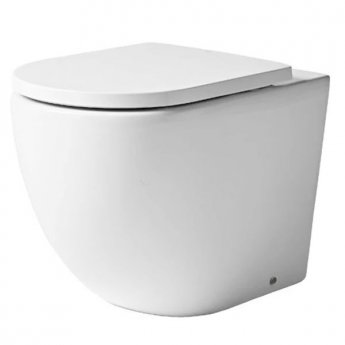 Tavistock Orbit Back to Wall WC Toilet Pan 565mm Projection - Soft Close Seat