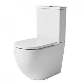 Tavistock Orbit Rimless Close Coupled Toilet with Dual Flush Cistern - Soft Close Seat