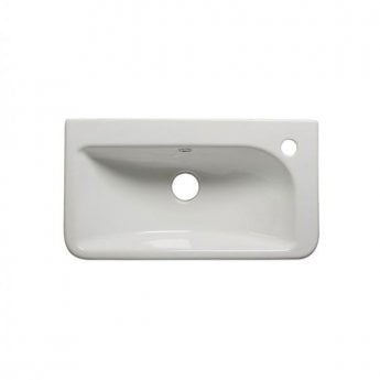 Tavistock Q60 Slim Semi-Counter Top Basin, 540mm Wide, 1 Tap Hole