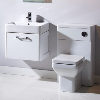 Tavistock Q60 Back to Wall WC Toilet Unit 500mm Wide White