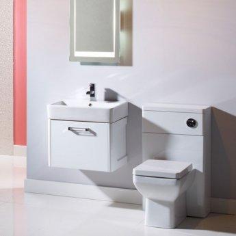 Tavistock Q60 Wall Mounted Bathroom Vanity Unit & Basin 550mm Wide White 1 Tap Hole