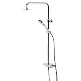 Tavistock Quantum Shelf Bar Shower Mixer with Shower Kit and Fixed Head - Chrome