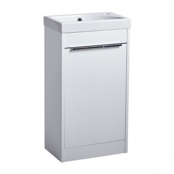 Tavistock Sequence Freestanding Vanity Unit, 450mm Wide, Gloss White