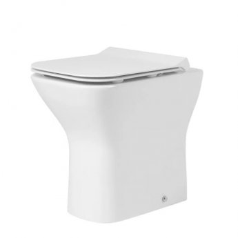 Tavistock Structure Back to Wall WC Toilet Pan 515mm Projection - Soft Close Seat