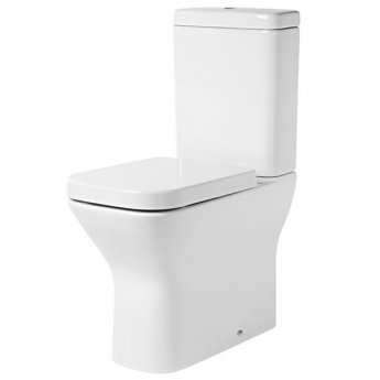 Tavistock Structure Comfort Back to Wall Close Coupled Toilet with Push Button Cistern - Soft Close Seat