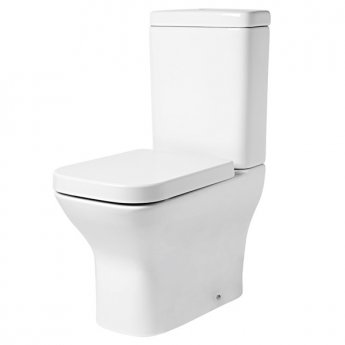 Tavistock Structure Flush-Fit Close Coupled Toilet with Push Button Cistern - Soft Close Seat