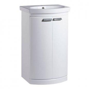 Tavistock Tempo Floor Standing Vanity Unit with Basin 500mm W - Gloss White