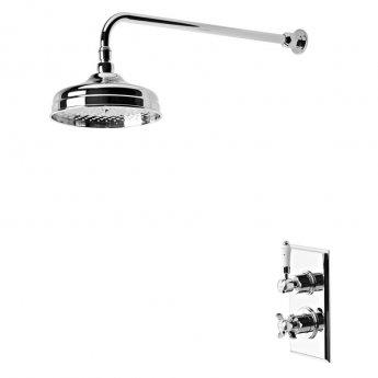 Tavistock Varsity Dual Concealed Mixer Shower with Fixed Head - Chrome