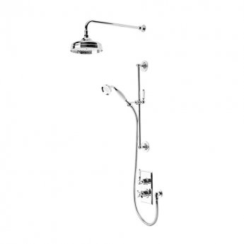 Tavistock Varsity Dual Concealed Shower Mixer with Shower Kit and Fixed Head - Chrome