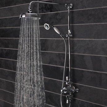 Tavistock Varsity Triple Exposed Shower with Shower Kit and Fixed Head - Chrome