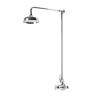Tavistock Varsity Dual Exposed Shower with Rigid Riser and Fixed Head - Chrome