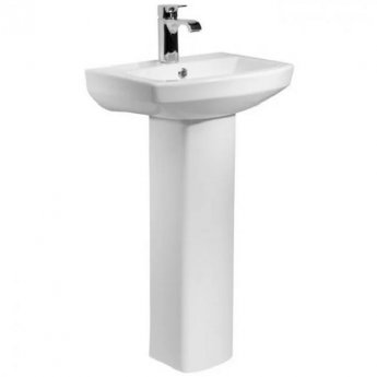 Tavistock Vibe Basin & Full Pedestal 1 Tap Hole 455mm Wide