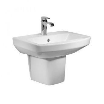 Tavistock Vibe Basin & Semi Pedestal 455mm Wide 1 Tap Hole