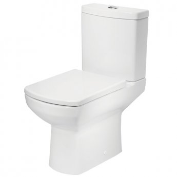 Tavistock Vibe Close Coupled Toilet with Push Button Cistern - Soft Close Seat